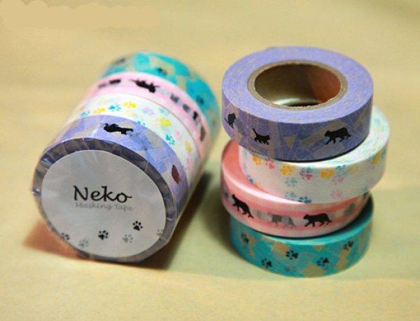 画像1: MIネコマスキングテープ・たま(4巻セット) (1)
